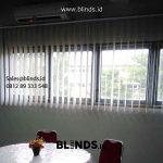 Contoh Tirai Vertical Blinds Dimout Light Grey Sharp Point Di Pondok Pinang Kebayoran Lama Jakarta Selatan