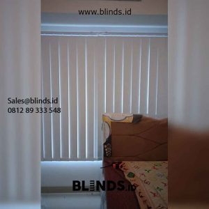 Gambar Tirai Vertical Blinds Blackout Apartemen Citra Living Kalideres Jakarta Barat