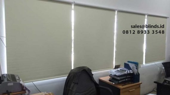 Jual Tirai Roller Blinds Semi Blackout Harga Permeter