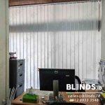 Model Tirai Vertical Blinds Off White Di Gedung Asean Kebayoran Baru