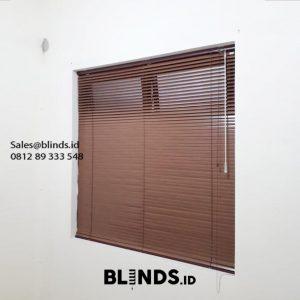 Jual Venetian Blinds SP 936 Wood Motive Perumahan Modernland Cluster Sakura Tangerang Id6011
