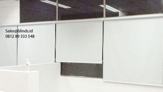 Jual Roller Blinds Dimout Sp 505-5 Silver Grey Gedung AKA Mampang Prapatan Jakarta
