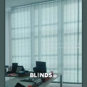 Tirai Vertical Blinds Dimout Sp 8835-6 Grey Ruko Acacia Arcade Pondok Aren Tangerang ID5613