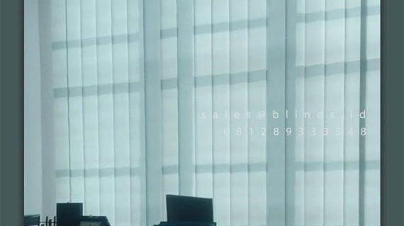 Tirai Vertical Blinds Dimout Sp 8835-6 Grey Ruko Acacia Arcade Pondok Aren Tangerang
