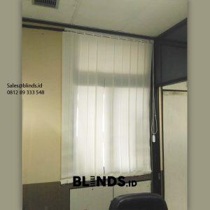 Harga Vertical Blinds Dimout Sp 8000 -2 Off White Pasang Kantor Mabes AD Gambir Jakarta Id6128